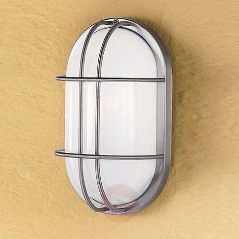 Oval outdoor wall light Dana, stainless Steel