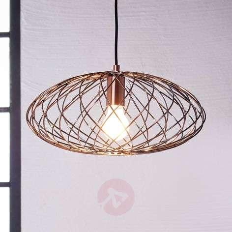 Oval pendant lamp Jilla made from metal