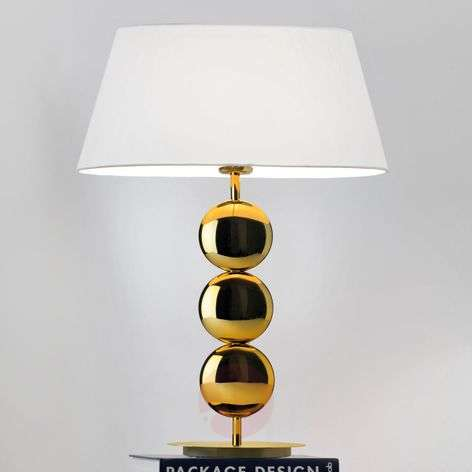 Oval table lamp Sofia with golden base