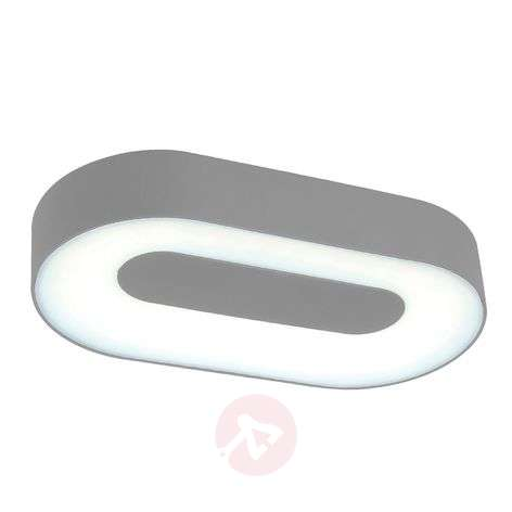 Oval Ublo LED wall light for outdoor areas