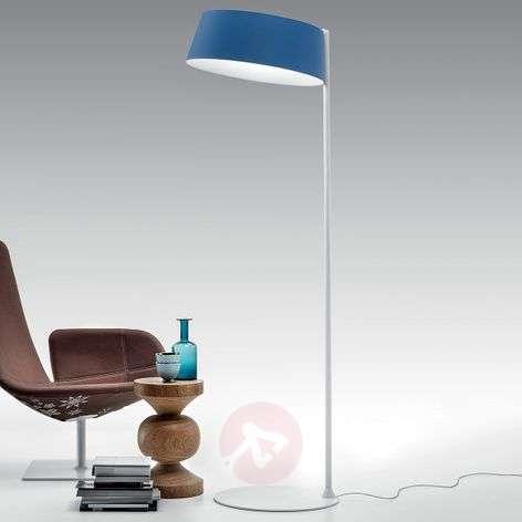 Oxygen_FL2 LED floor lamp in azure blue