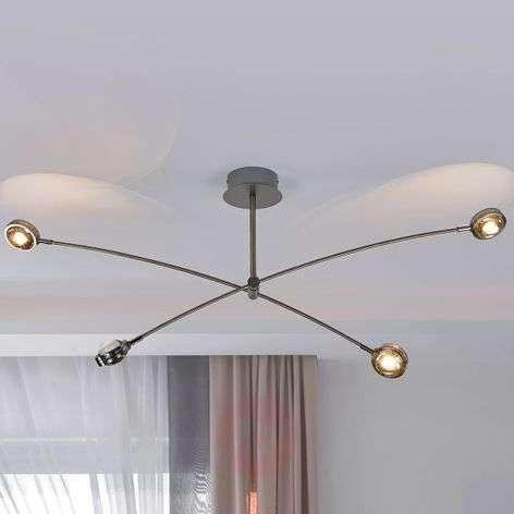 Pablos extravagant LED ceiling lamp, four-bulb
