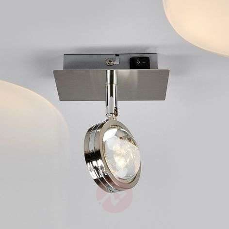 Pablos LED wall lamp with a glass lens