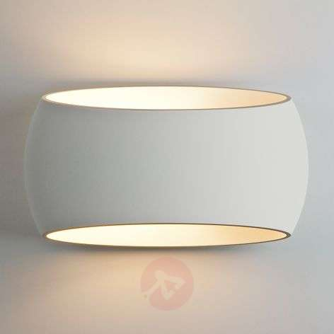 Paintable plaster wall light Aria