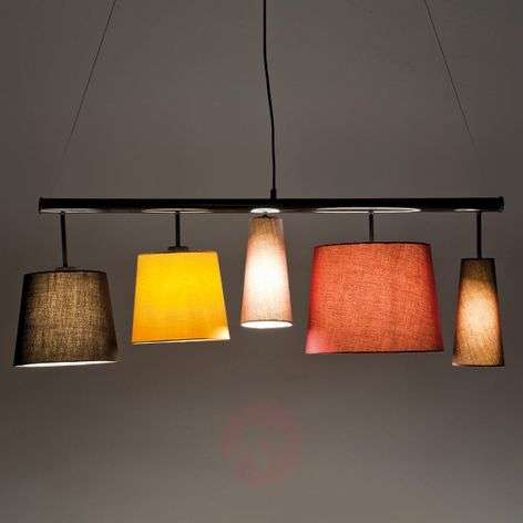 Parecchi Colore - hanging light with 5 lampshades