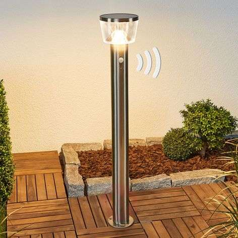 Path light Antje with LED and sensor, solar power