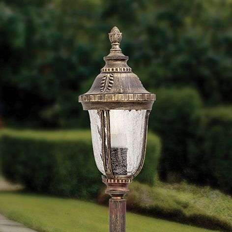 Paula Path Light Traditional Patterned Glass