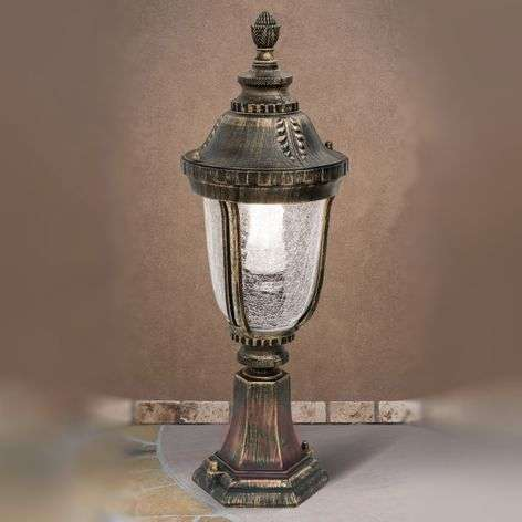 Paula Pillar Light Traditional Patterned Glass