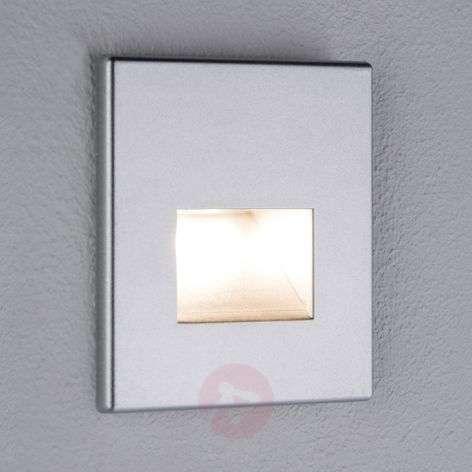 Paulmann Edge LED recessed wall light, matt chrome