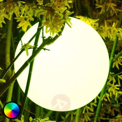 Pearl LED globe light, controllable from a mobile