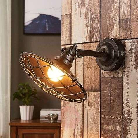 Pekka - wall lamp with mesh covering