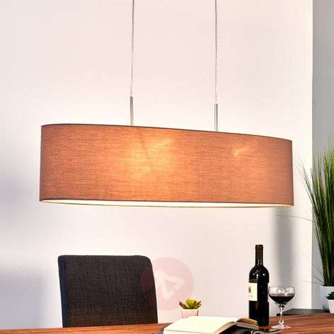 Pendant lamp Finn with shade in cappuccino-4580695-33