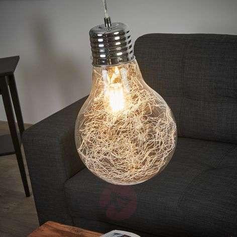 Pendant lamp Rubi like a light bulb