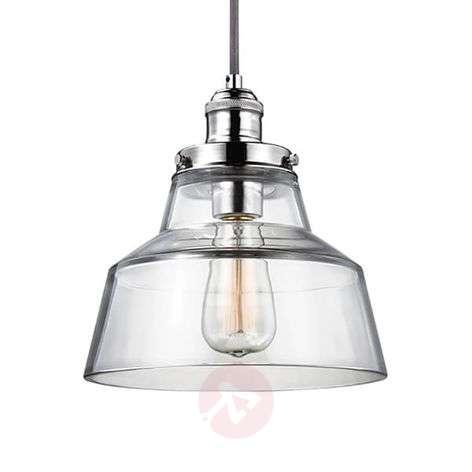 Pendant light Baskin A polished nickel suspension