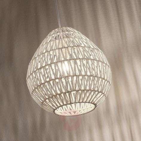 Pendant light Danya made of white woven paper 33cm
