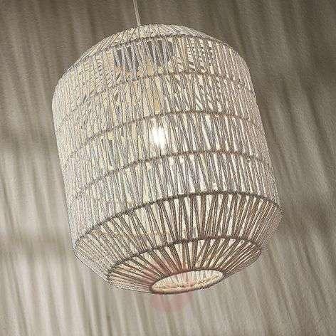 Pendant light Danya made of white woven paper 48cm