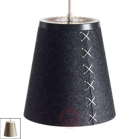 Pendant light Flör made of wool felt