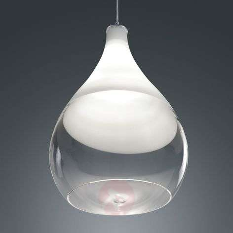 Pendant light Kingston with glass lampshade