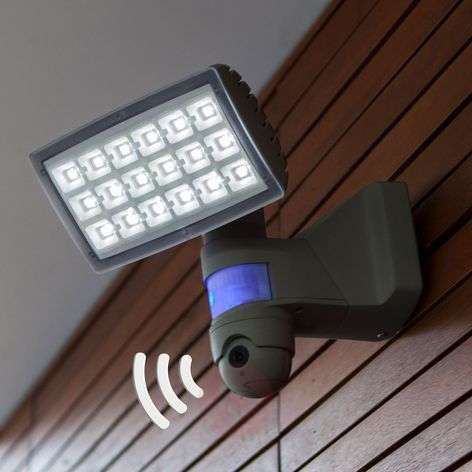 Peri Cam LED outdoor spotlight with camera/sensor