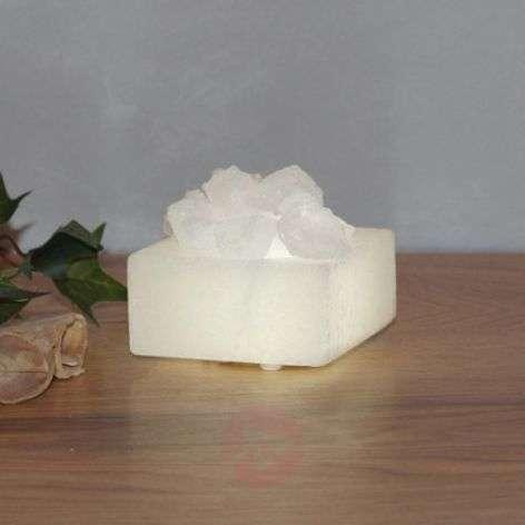 Petite small LED salt crystal bowl