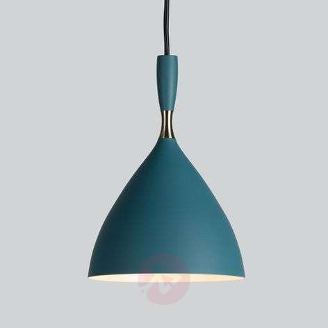 Petrol-coloured retro hanging light Dokka