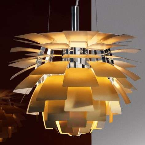PH Artichoke hanging lamp brass