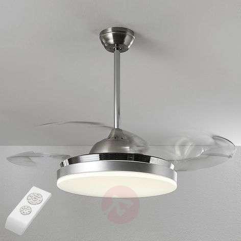 Philious LED ceiling fan, variable luminous colour