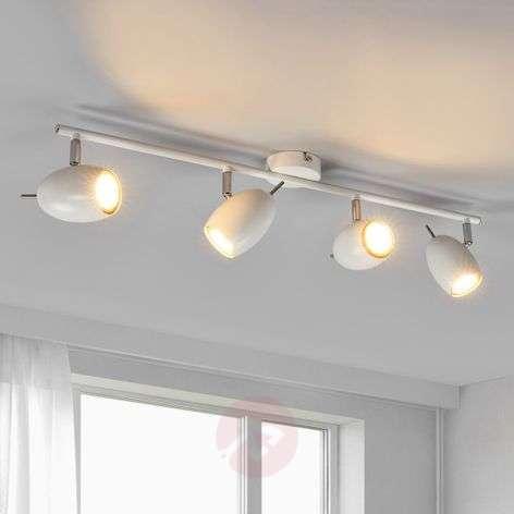 Philippa - white LED ceiling spotlight, 4-bulb