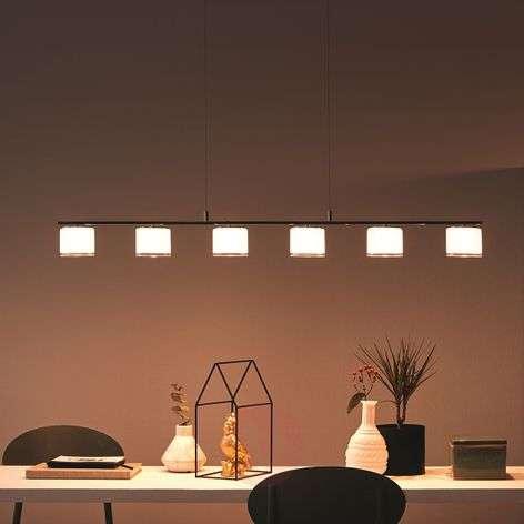 Philips Byzantin LED linear pendant light, chrome