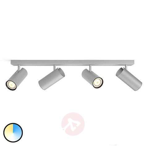 Philips Hue Buratto LED spot, alu,4-bulb, dimmer