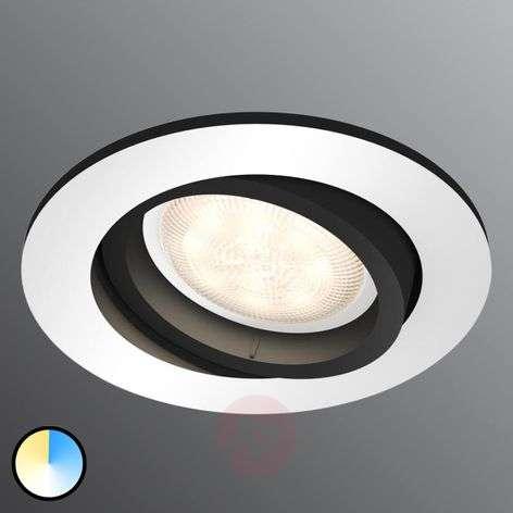 Philips Hue Milliskin LED spot, round, alu
