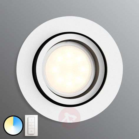 Philips Hue Milliskin, round, white, dimmer switch