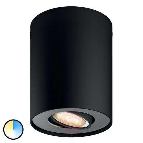 Philips Hue White Ambiance Pillar spot black