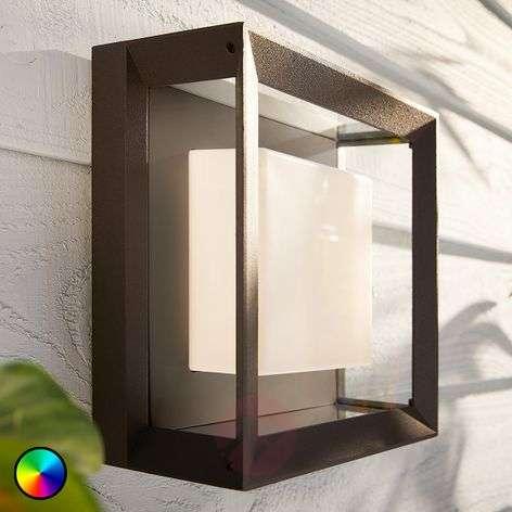 Philips Hue White+Color Econic wall light, angular