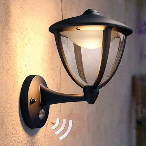 Philips Robin LED outdoor wall light black, up