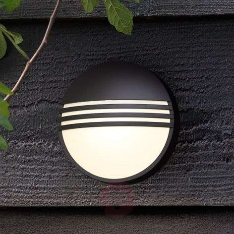 Philips Yarrow black LED outdoor wall light
