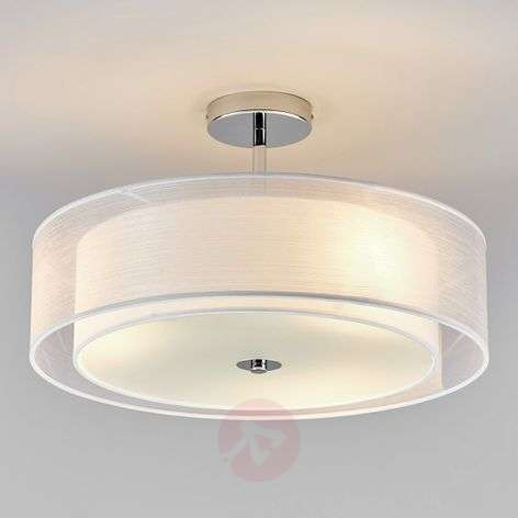Pikka LED ceiling light with a white lampshade