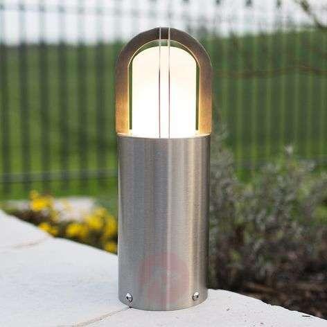 Pillar light Kyklos made of V4A stainless steel