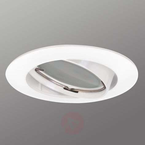 Pivotable Downlight DIM Flat recessed spot white