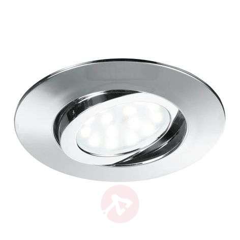 Pivotable LED recessed ceiling spotl. Zenit chrome
