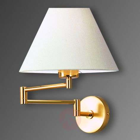 Pivotable wall light Livas, polished brass