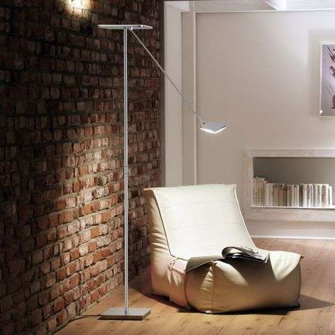 Plano VL LED uplighter alu matt with reading light