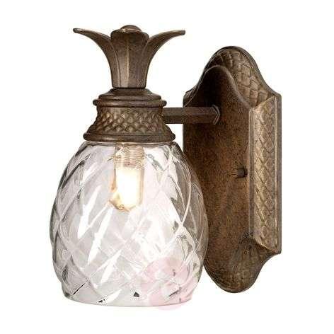 Plantation LED wall lamp, downlight