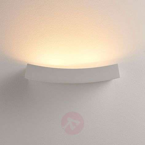 Plaster LED wall uplighter Tiara, G9 bulb dimmable