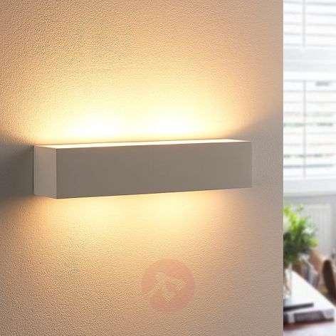 Plaster wall light Tjada with G9 LED bulbs