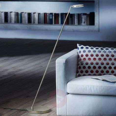 Platinum-effect Plano S LED floor lamp