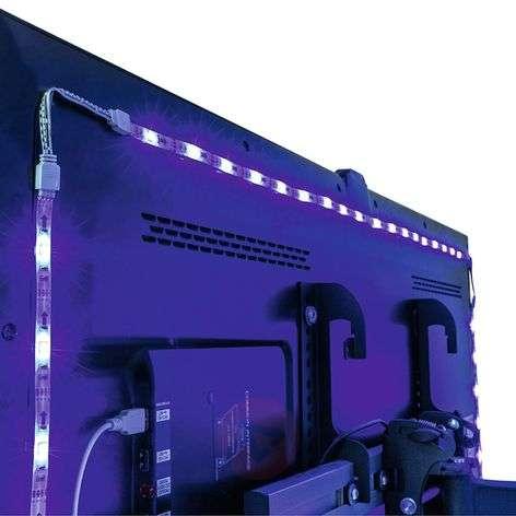 Plug and Play LED strip set for TVs