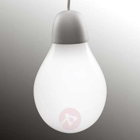 Plum LED pendant lamp w/ Bohemian glass lampshade