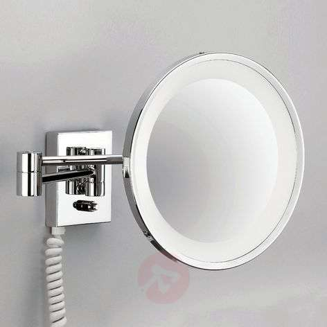POINT illuminated cosmetic wall mirror, chrome-2504194-31
