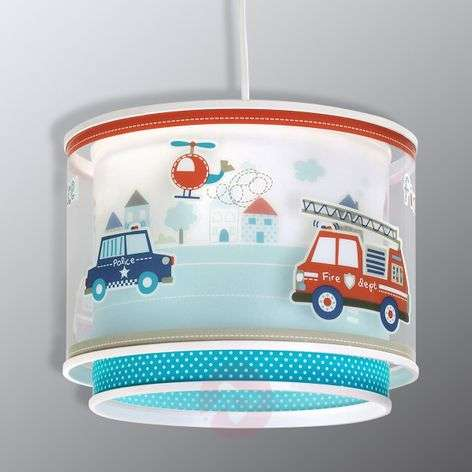 Police - hanging light for boy's bedrooms